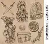 pirates  buccaneers and sailors ... | Shutterstock .eps vector #223571257
