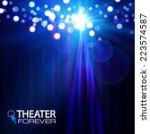 spotlight on stage curtain.... | Shutterstock .eps vector #223574587