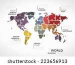 world map concept infographic...