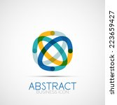 line design logo  geometric... | Shutterstock .eps vector #223659427