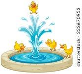 Illustration Of Ducks And...