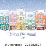 old historical houses  shops... | Shutterstock .eps vector #223682827