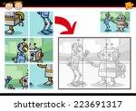 cartoon vector illustration of... | Shutterstock .eps vector #223691317