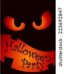 halloween party poster   Shutterstock .eps vector #223692847