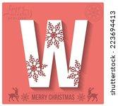 christmas stylized alphabet... | Shutterstock .eps vector #223694413