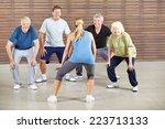 Senior People Dancing To Music...