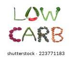 low carb diet  | Shutterstock . vector #223771183