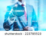 ecommerce concept man selecting ... | Shutterstock . vector #223785523
