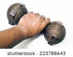 close up male hand is holding...   Shutterstock . vector #223788643