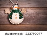 hand made felt snowman...   Shutterstock . vector #223790077