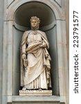 Постер, плакат: Giovanni Boccaccio statue in