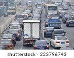 beijing  oct. 6. congested...   Shutterstock . vector #223796743