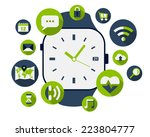 smart watch illustration with... | Shutterstock .eps vector #223804777