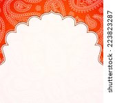 frame in the indian style on... | Shutterstock .eps vector #223823287