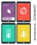 flat ui design infographics...