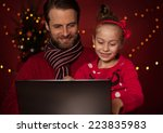 Christmas   Smiling Father And...