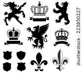 heraldry ornaments   vector... | Shutterstock .eps vector #223850227