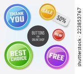modern round buttons with... | Shutterstock .eps vector #223853767