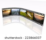 film roll with color pictures ... | Shutterstock . vector #223866037