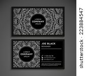 Vintage business card | Shutterstock vector #223884547