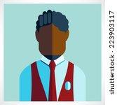 african schoolboy icon flat