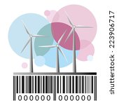Barcode And Wind Power Station...