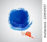 blue circle  acrylic   Shutterstock .eps vector #223919557
