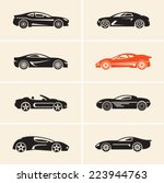 vector car icons. sport cars. | Shutterstock .eps vector #223944763