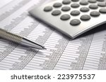 financial business calculation... | Shutterstock . vector #223975537