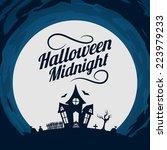 halloween background. bright... | Shutterstock .eps vector #223979233