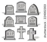 vector cartoon set of different ... | Shutterstock .eps vector #224002303