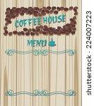 coffee house menu | Shutterstock .eps vector #224007223