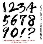 numbers | Shutterstock .eps vector #224047693