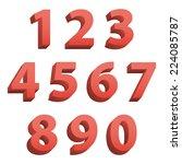 red clean modern set of 3d... | Shutterstock .eps vector #224085787