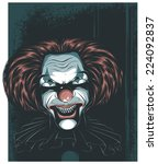 scary clown | Shutterstock .eps vector #224092837