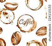 vector watercolor seamless...   Shutterstock .eps vector #224110153