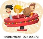 samba amusement park ride... | Shutterstock .eps vector #224155873