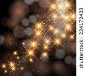 vector glittering stars on... | Shutterstock .eps vector #224172433