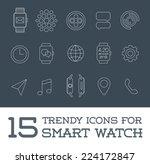 15 fresh smart watch trendy...   Shutterstock .eps vector #224172847