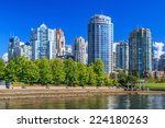 residential area in downtown... | Shutterstock . vector #224180263