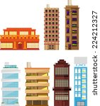 Seven Different Buildings Set...
