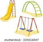 park playground equipment set... | Shutterstock .eps vector #224216047