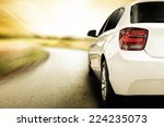 white sport car without a trade ... | Shutterstock . vector #224235073