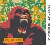 ape roar high color contrast... | Shutterstock .eps vector #224235793