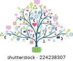 tree with communication icons.... | Shutterstock .eps vector #224238307