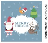 merry christmas. vector | Shutterstock .eps vector #224240923