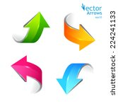 set of colored arrows. stickers ... | Shutterstock .eps vector #224241133