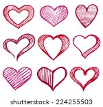 heart set | Shutterstock .eps vector #224255503