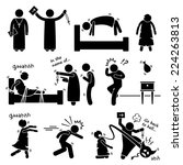 exorcist exorcism evil demon... | Shutterstock .eps vector #224263813