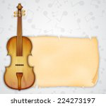 background with violin. music... | Shutterstock .eps vector #224273197